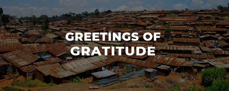 Greetings of Gratitude